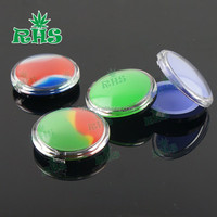 2016 new wax container acrylic silicone jar wax containers likes small dressing case.