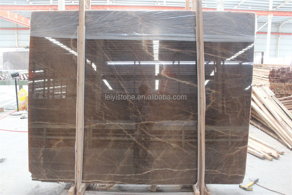 Polished Chinese gem stone marble stone brown onyx slabs