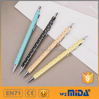 heart-shape clip metal mechanical pencil with heart shape printing MD-H1036