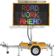 LED Full Matrix Movable Led Display Signs With 12V Solar Power Supply