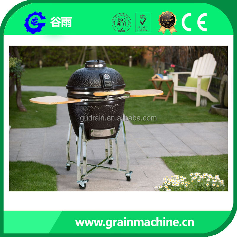 Kamado Style Hot Stone BBQ Grill 18 inch Apple Charcoal Barbecue Grill BBQ Grill AGP02 Green Mountain Traeger