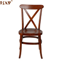 Stackable wooden x back cross back bistro dining chair