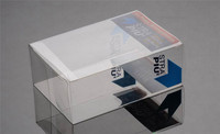 Custom foldable packaging small clear plastic box