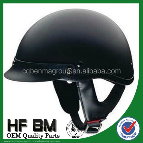 leather half helmet with visor,jet helmet motorcycle,with OEM quality