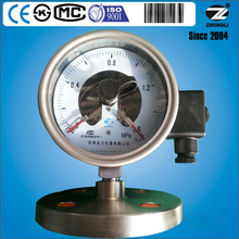 all stainless steel diaphragm electric pressure gauge with stainless steel bourdon tube