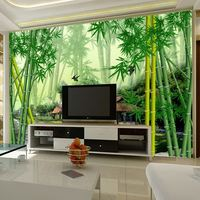 TV background wallpaper 3d stereo minimalist living room large mural seamless non-woven bamboo wall cloth