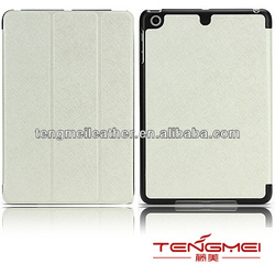 For IPad mini ultra thin leather Case White,Smart leather case for ipad mini,Kickstand case for ipad