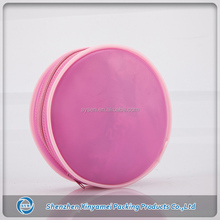 small round pvc pouch bag with zip