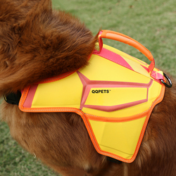 Durable new yellow dog nylon harness for weight dog