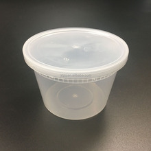 Chinese 448ml /16oz clear round disposable plastic lunch / food / pickle storage / take out / packaging box/container suppliers