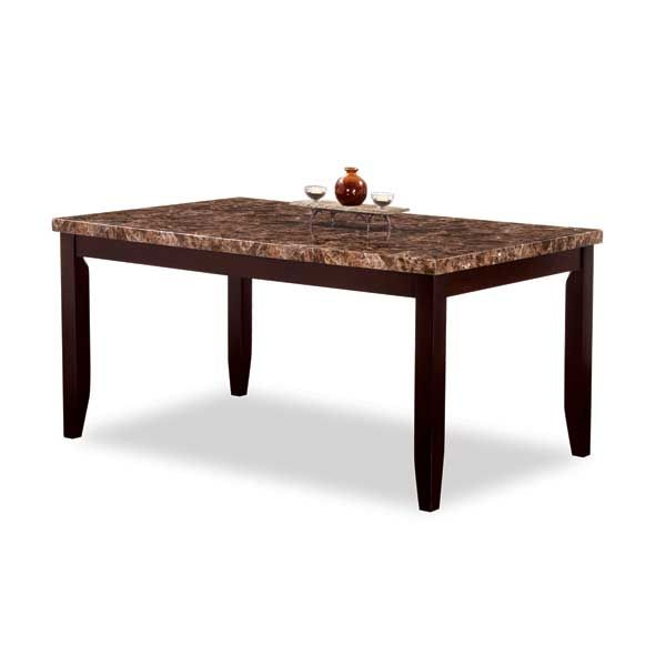 Marble paper covered wood framed dining table