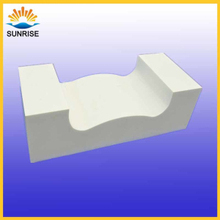 Fused cast alpha beta block for port mouth of float glass furnace
