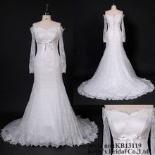 Little sweetheart mermaid lace mature wedding gown
