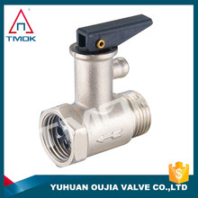 water media ball valve standard or non standard safety valve for water heater brass made in China