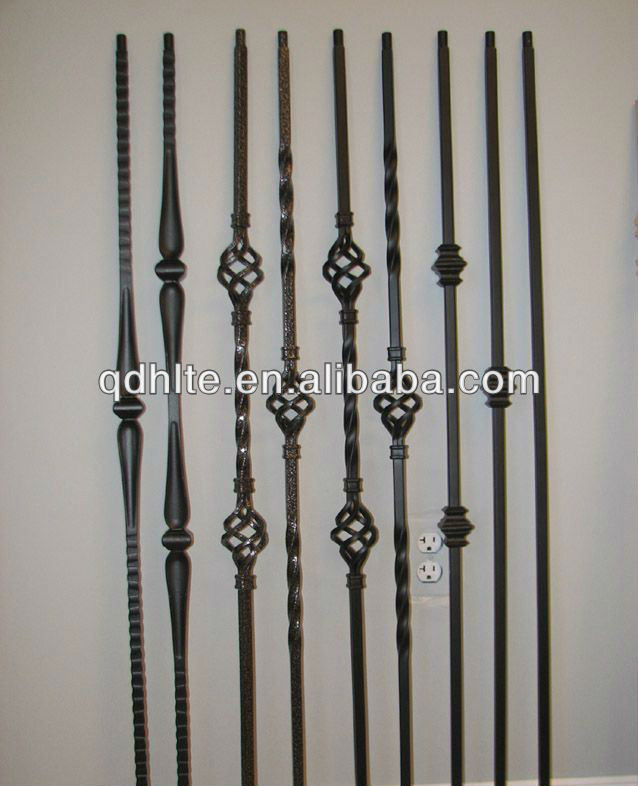 stair balcony grill design fashion style wrought iron pickets bars
