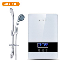 Wholesale low power consumption small bathroom instant electric tankless shower hot water heater