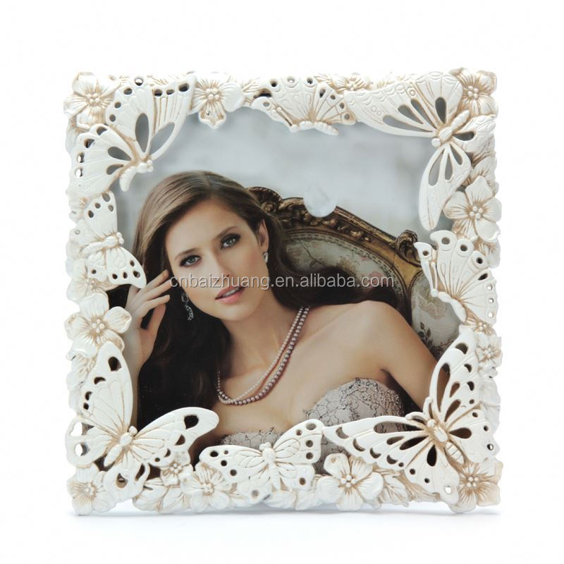 wholesale manufacturer two sides metal rechargeable battery photo frame