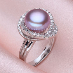 New Design Wedding Gift Fashion Charm Europe and America Jewelry 925 Silver Natural Pearl Rings