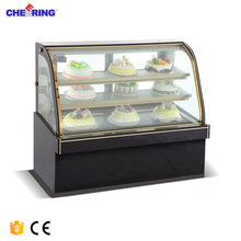 Upright cake showcase pastry display cabinet refrigerated cake display case
