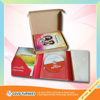 Retail cd dvd gift packaging with corrugated box for mailing