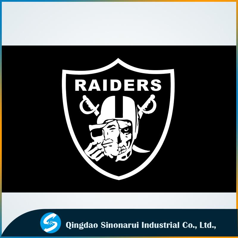 National football league soccer game Oakland Raiders new logo flags printing