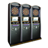 Electronic dart game machine, coin operated dart arcade game machine