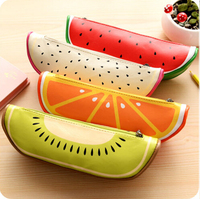 Lovely Cute Fruit Pencil Case Bag food Pen Case School Stationary Kids Gift wholesale