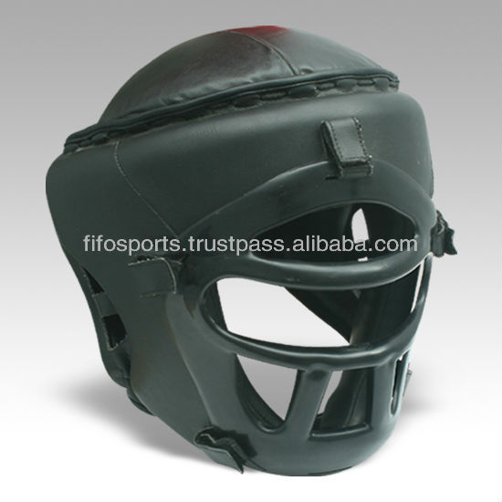 Synthetic Leather Shatterproof Head Guard made in leather,Crystal Cage Shatter Proff Head Guard,Synthetic Leather Head Guards