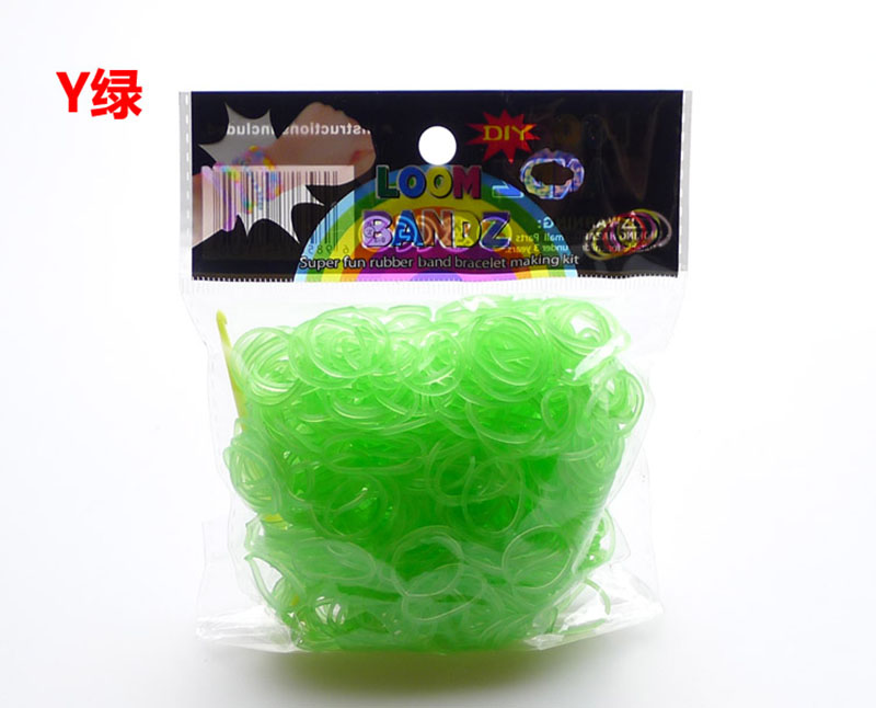 Wholesale 600pcs/pack New Fashion Popular Environmental Rubber Luminous Loom Bands Bracelet