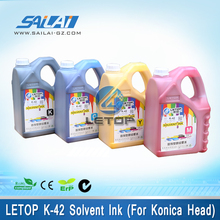 letop solvent inkjet printer k-42 5L/barrel solvent color shifting ink