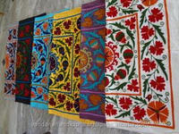 Table Cloth manufacture in india Wholesale Lots of Antique Uzbek Decorative Suzani Emberiodery Cushions & Pillows~from factory i