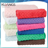 China manufacturer 100% polyester minky dot fabric korean