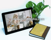 2013 hot sale high quality 13.3 inch digital picture frame with oem promotional mp3