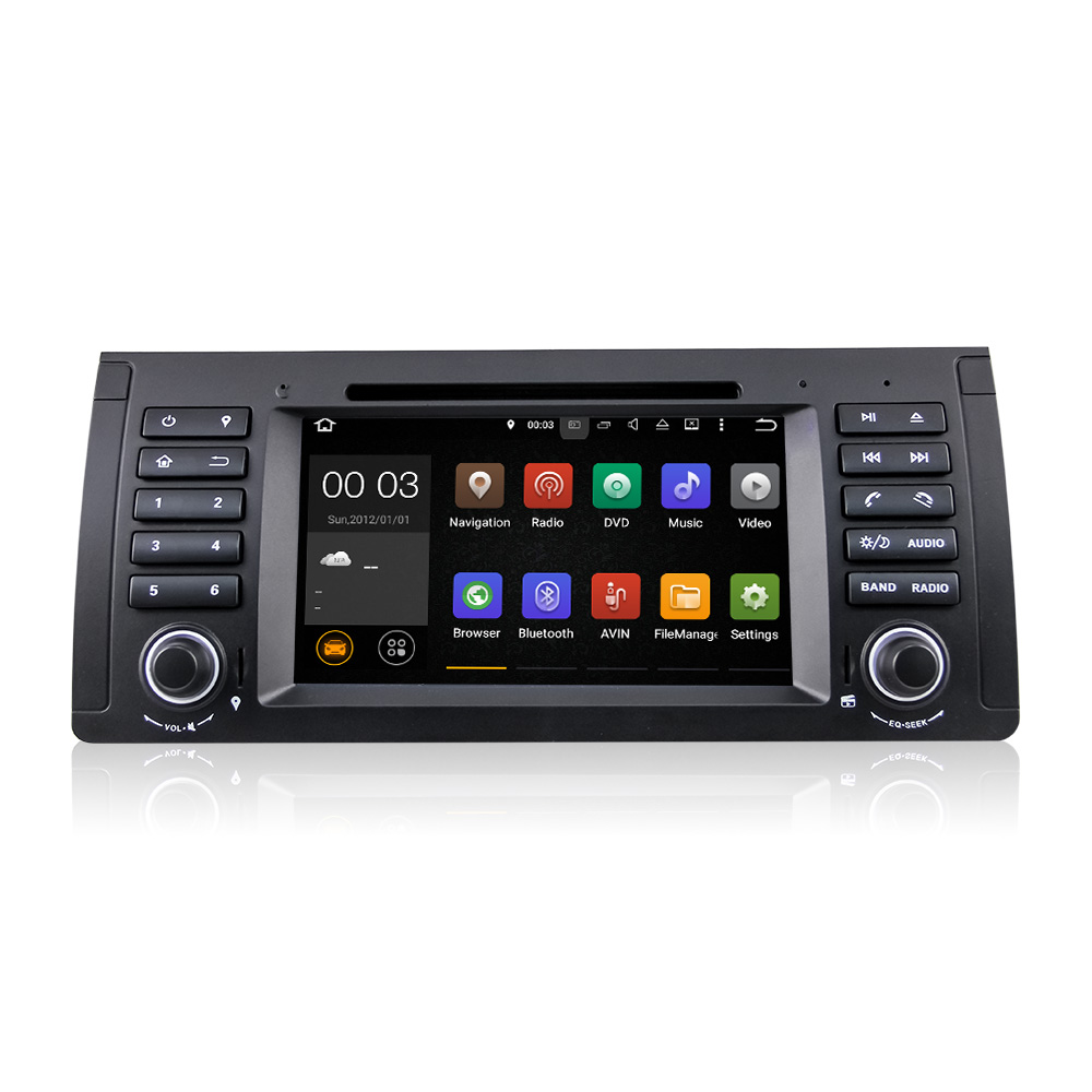 Winmark Android 5.1 Car Radio DVD GPS Player 7 Inch 1 Din Special For BMW X5 E53 2002 to 2007 with New 40-Pin DU7061