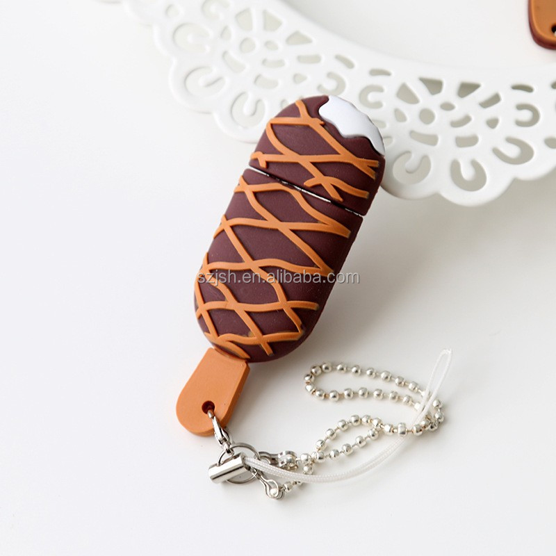 Hot selling popsicle shape chocolate usb For Promotion Giveway