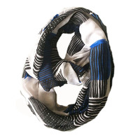 Latest design hollow out hook Stripe circle loop scarf