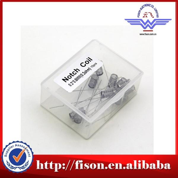 Chinese factory wholesale SS316L notch coil / 5mm Vape Notch coil / prebuilt coil