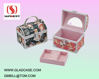 SB2001 high quality aluminum makeup vanity box with lock