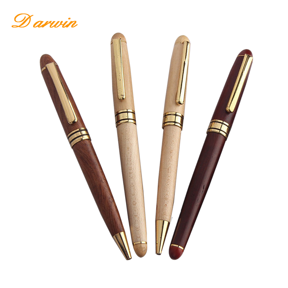 Darwin brand High quanlity wooden ball point wood pen wholesale wood roller pen