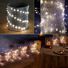 Customized outdoor wedding party led rice bulb Christmas fairy lights for street decorative