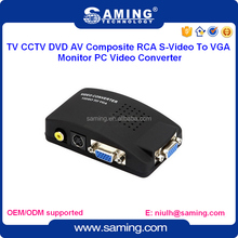 TV CCTV DVD AV S-Video To VGA Monitor PC Video Converter