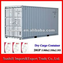 Sunhill New cheap 20GP Steel structure sea shipping Dry Cargo Container