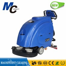 C660 commercial dual brush battery powered industrial floor scrubber floor washing cleaning machine