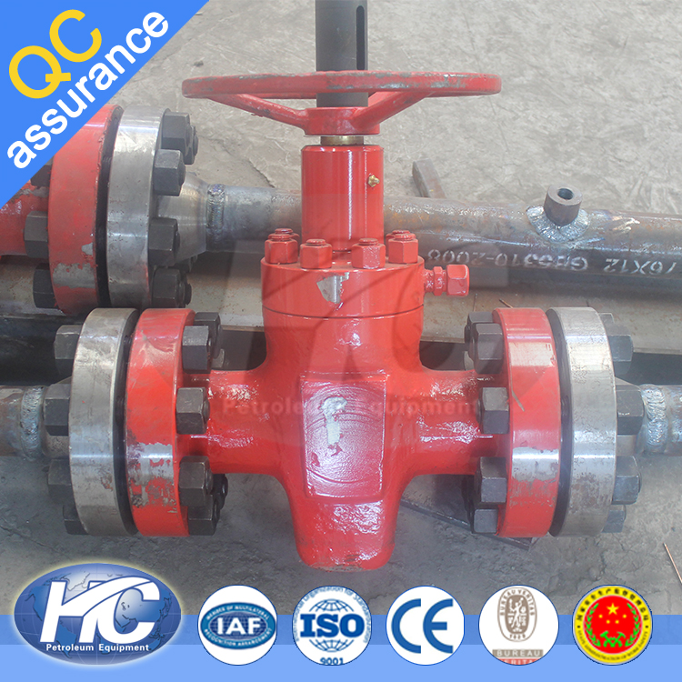 Non-rising stem knife gate valve / 3 way gate valve / sluice gate valve used in gas fileds
