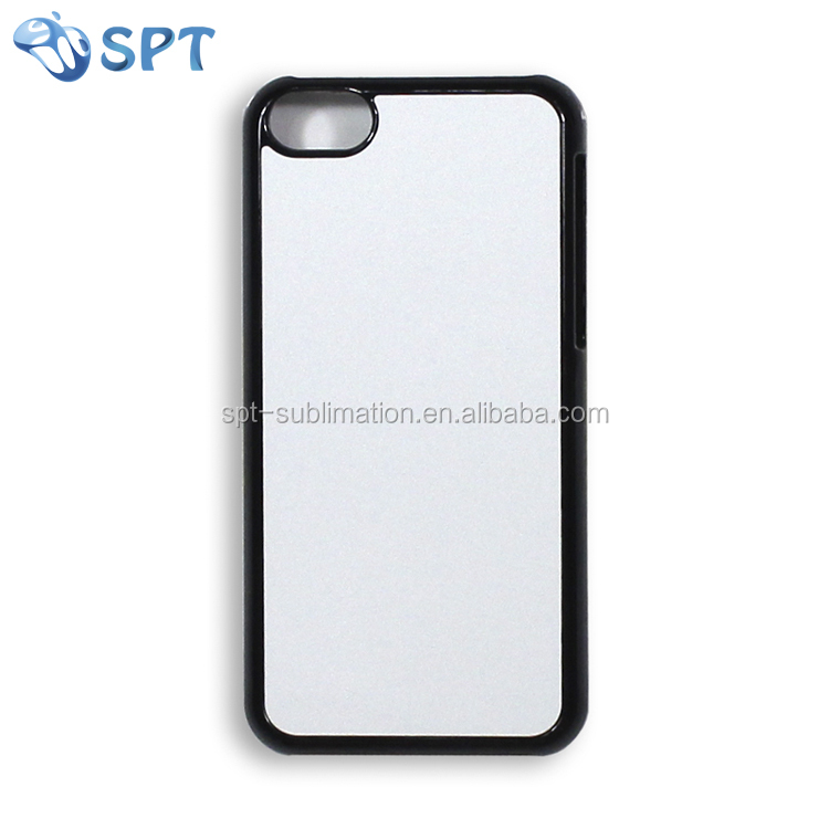 Blank 2D white transparent black sublimation printing PC phone case for Iphone 5S