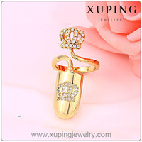 Xuping Fashion 14K gold color Ring High Quality Charming New Design Rings With Stones Jewelry 13253