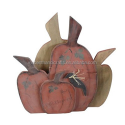 harvest ornament 3D wooden craft pumpkin