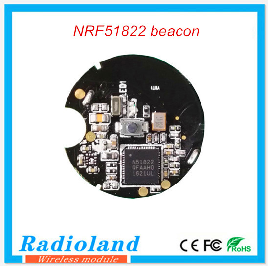 Cheap price custom latest nrf51822 chipset wristband beacon
