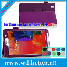 Colorful For Galaxy Tab Pro T320 Smart Leather Case Cover Purple - For Samsung Pro 8.4""