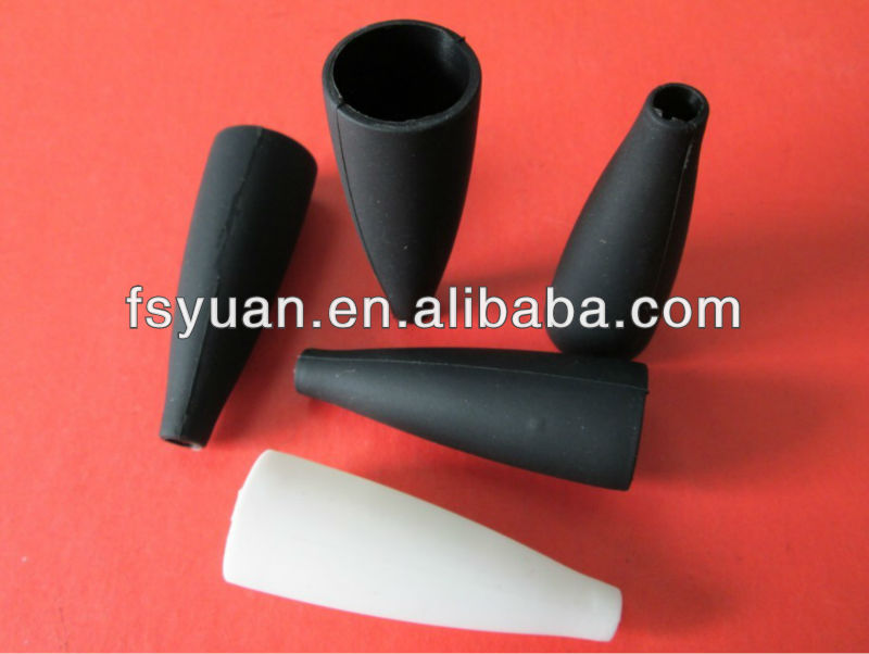 rubber protective sleeve finger protection sleeve silicone cap black rubber hole plugs